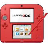 Nintendo 2ds + Mem 4gb + 6 Ar Cards + 11 Juegos  Color Rojo