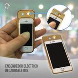 Encendedor Eléctrico Recargable Usb Metálico iPhone Rf 410