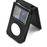 Funda De Cuero Negro Para Apple Ipod Classic 80gb / 120gb /