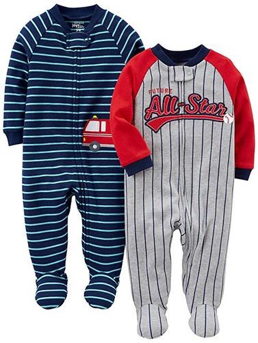307853ef5a Pack 2 Pijamas Carter s De Bebé Con Pies (bomberos béisbol)