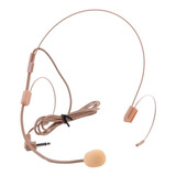 Microfono Diadema Color Piel Para Sistemas Inalambricos