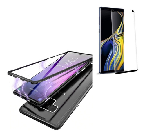 Kit  Case   Magnetico Protector Samsung Note 9  + Vidrio 9d