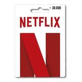 Pin Tarjeta Netflix De $30.000