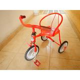 Triciclo Metálico Pequeño Antiguo. Ideal Decoración Vintage