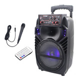 Cabina Sonido Bluetooth 250 W + Micrófono + Control + Obseq