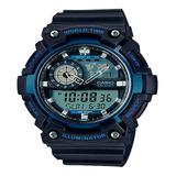 Reloj Casio Aeq-200w Analogo Digital 5 Alarmas Original