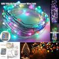 Multi Color 10m 100 Led Cobre Alambre Cuerda Al Aire Libre