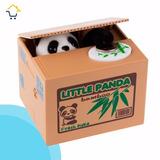 Alcancia Roba Monedas Oso Panda