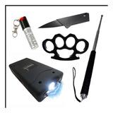 Kit Defensa Personal Gas Pim+taser +tambo +  +manopla +navaj