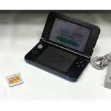 Nintendo 3ds Xl Azul + Cargador + Juego Mario Bros
