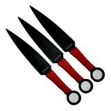 Set De 3 Kunai Puñal Cuchillo Daga En Acero Ninja Defensa