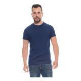 Camiseta Cuello Redondo Azul Oscuro Hombre Mizu