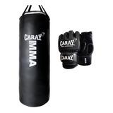 Saco De Boxeo 1,20 X 40 Y Un Par De Guantes De Mma Caray