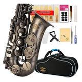 Saxofón Alto Glory Serie De Acabado Antiguo Pr3, E Plano C