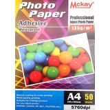 Papel Fotográfico Brillante Adhesivo 135 Grs X 50 Hojas A4