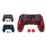 Forro Silicona Ps4 Grips Control Sony Ps4 + 2x Cap Envio Gra