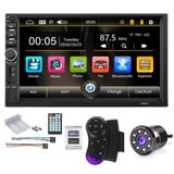 Radio Carro Bluetooth Usb Sd 7''hd Mirrorlink 2020 + Camara