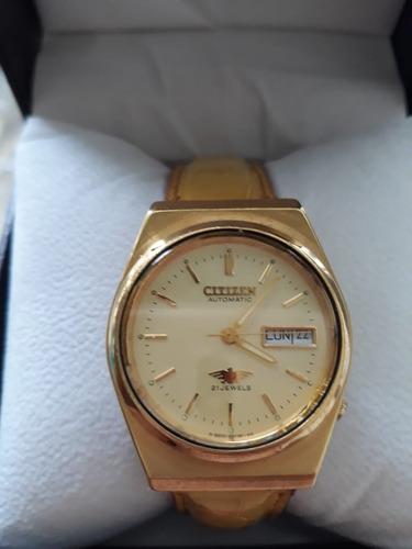 Reloj Citizen 8200 Original 21 Joyas Automatico En Oro