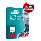 Eset Nod32 Internet Security 3 Pc 3 Años Ultima Version