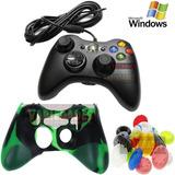 Control Xbox 360 Y Pc Alambrico  Gratis Siliconas Grips