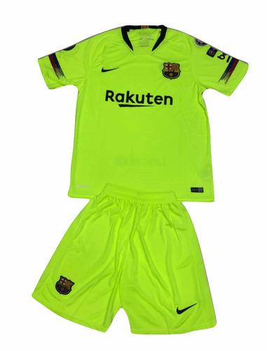 Uniforme Alterno Barcelona Fc Camisa+pantaloneta 2018-2019 3e28bc3b72cc6