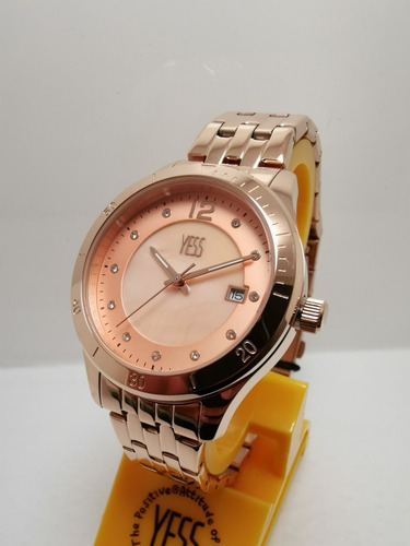 1c8dc0f66bb6 Reloj Yess Mujer S393 Oro Rosa Original
