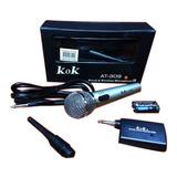 Micrófono Inalámbrico Y Cable 2 En 1 Profesional Alta Calida