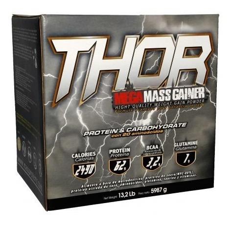 Proteina Thor Mega Mass Gainer Tnt 13lb Bcaa Glutamina