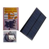Panel Solar 12v - 100mah + Modulo Usb Proyecto Escolar