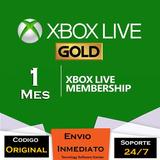 Xbox Live Gold 1 Mes Codigo Region Libre
