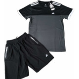 Conjunto Deportivo Camiseta Pantaloneta Hombre adidas Reebok