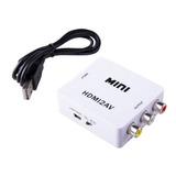 Convertidor Adaptador De Hdmi A Rca Video Full Hd 1080p