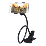 Soporte Holder Flexible De 60cm / Clip Para Celulares, Negro