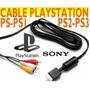 Cable S-video Y Audio Nuevo Original Sony Ps1 Ps2 Ps3