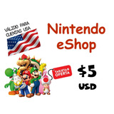 Nintendo Eshop Cards Tarjetas 3ds Wii U Switch 5   Para Hoy