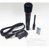 Micrófono Inalámbrico Para Karaoke Profesional Sonivox Sm152