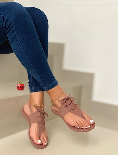 09268a33 Hermosas Sandalias Planas Mujer Moda Calidad Colombiana