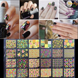 Sticker 3d Para Uñas, Decoracion De Uñas Manicure Pegatinas