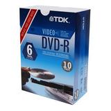 Tdk Dvd-r 8x Compatibles Video, 10unidades)