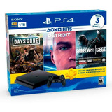 Consola Ps4 Slim 1tb + 3 Juegos + 3 Meses Plus