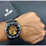 Reloj Hombre Rolex Automatico A Corazón Abierto Acero + Caja