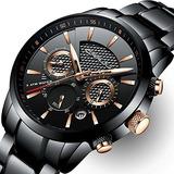 Reloj Hombre Crrju De Acero Inoxidable Fecha Casual Reloj De