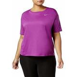 Nike Camiseta De Running Para Mujer Talla Grande Color Rojo