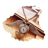 Reloj Collar Harry Potter Snitch Quidditch Vintage Bolsillo