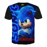 Camiseta Sonic  X Sega Niños Adultos Exclusiv Unisex Algodón