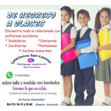 Uniformes Escolares, Bordados, Estampados