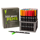 Tombow Dual Brush Pen Arte Marcadores, 96 Grupo De Colores