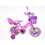 Bicicleta Para Niña De 3 A 5 Años Rin 12  Princesas Frozen.