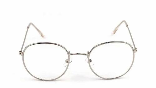 1d8b2cb87e Montura Gafas Metalicas Recetadas Retro Redondas Hipster