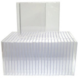25 Cajas De Joya Estándar Cd De Repuesto De Plástico Trans